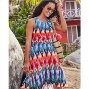 NWT Athleta Ikat Martinique Dress Multicolor MED